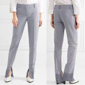 Cedric charlier Shirred ruffle trousers si…